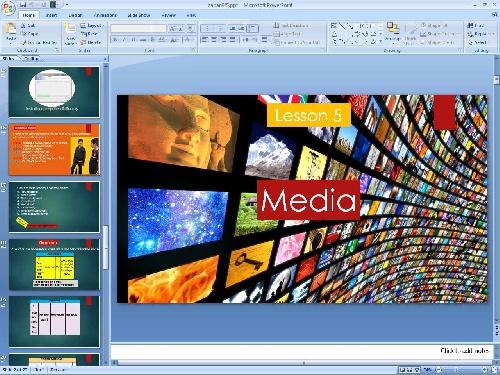 2052035 - پاورپوینت درس پنجم زبان انگلیسی پایه نهم Media
